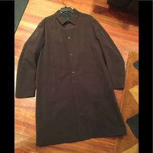 Men's Prada Chocolate Brown Over Coat Sz XL.